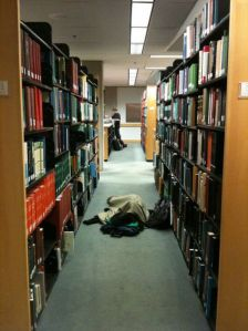 Thankfully, scenes like this were avoided because people preferred to nap in the beanbag corner of the DVD section.