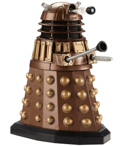 A golden Dalek from BBC TV show Doctor Who.