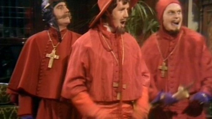 The Spanish Inquisition from the BBC's Monty Python's Flying Circus
